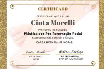certificado curso plástica nos pés